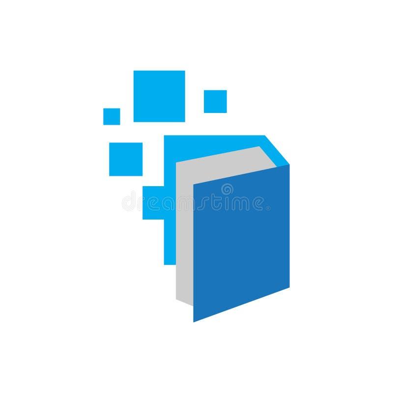 pixel book ebook logo design vector Electronic Library icon vector illustration