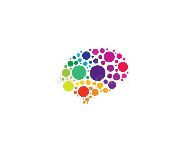 Pixel Brain Logo Icon Design illustration stock