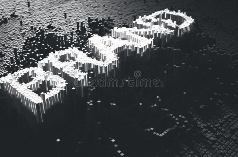 Pixel Brand Concept stock illustration