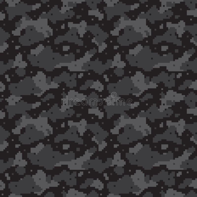 Pixel camo Schwarzes lizenzfreie abbildung