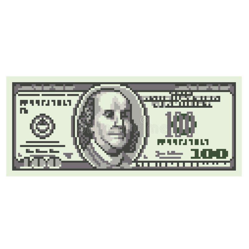 Pixel cent dollars de vecteur illustration stock