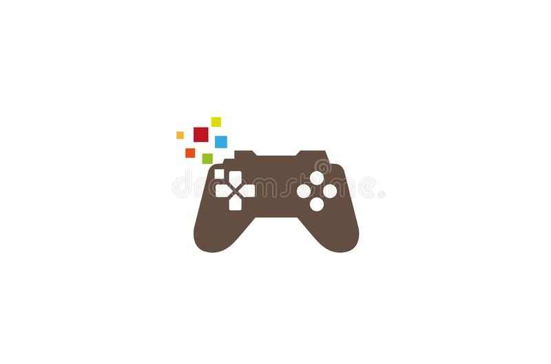 Pixel créatif Logo Design Vector Symbol Illustration de Gamepad illustration de vecteur