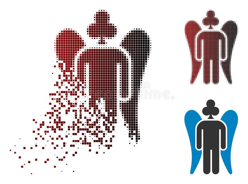Pixel de desaparecimento Angel Icon de jogo de intervalo mínimo ilustração stock