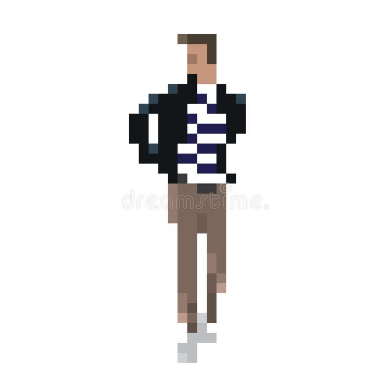 Pixel de mode d'homme illustration libre de droits