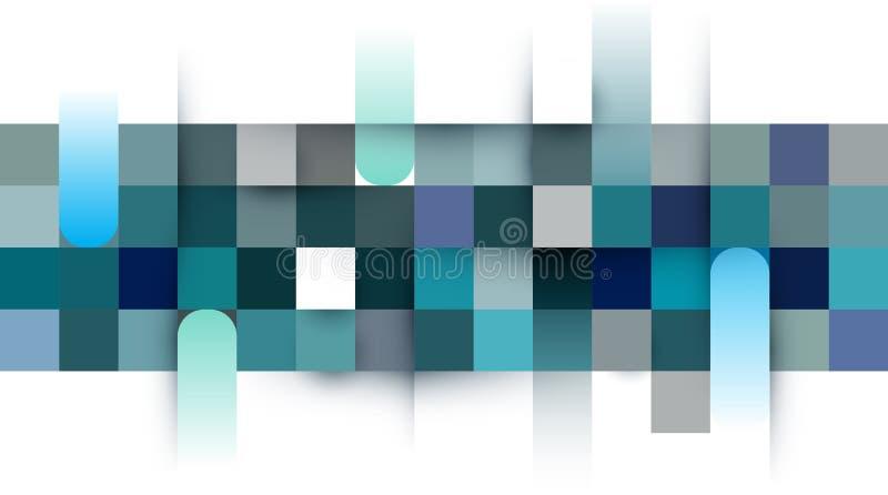 Pixel del vector, mosaico, fondo del color del cuadrado de rejilla Diseño gráfico creativo del ejemplo ilustración del vector