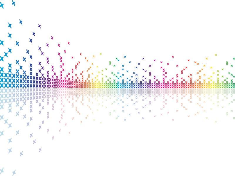 Pixel die op witte backg vectorillustratie worden geïsoleerdd stock illustratie
