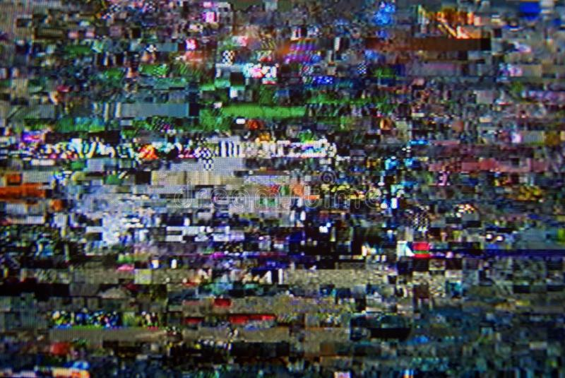 Pixel digital TV royalty free stock image
