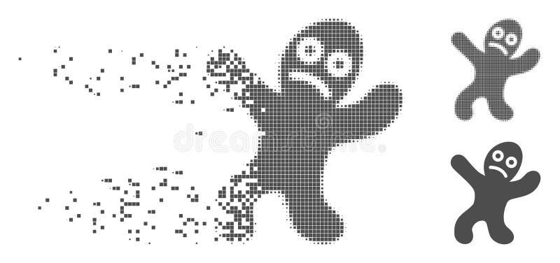 Pixel dispersé Person Icon malade tramé illustration de vecteur