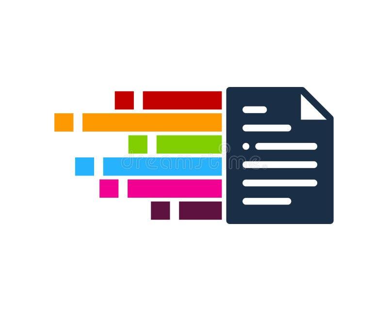 Pixel Document Icon Logo Design Element royalty free illustration