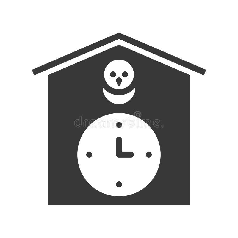 PIXEL för design för gökurvektor perfekt fast royaltyfri illustrationer