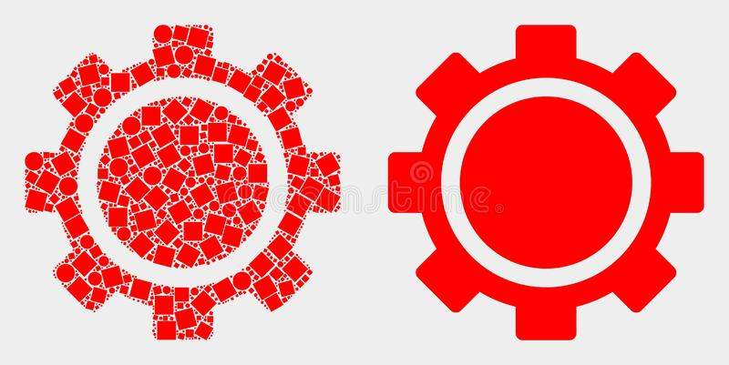 Dot and Flat Vector Gear Icon royalty free illustration