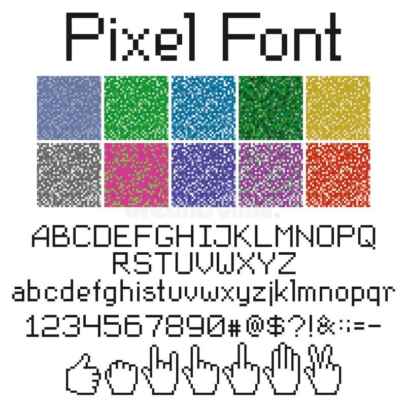 Pixel Font Stock Vector. Illustration Of Digital, Number