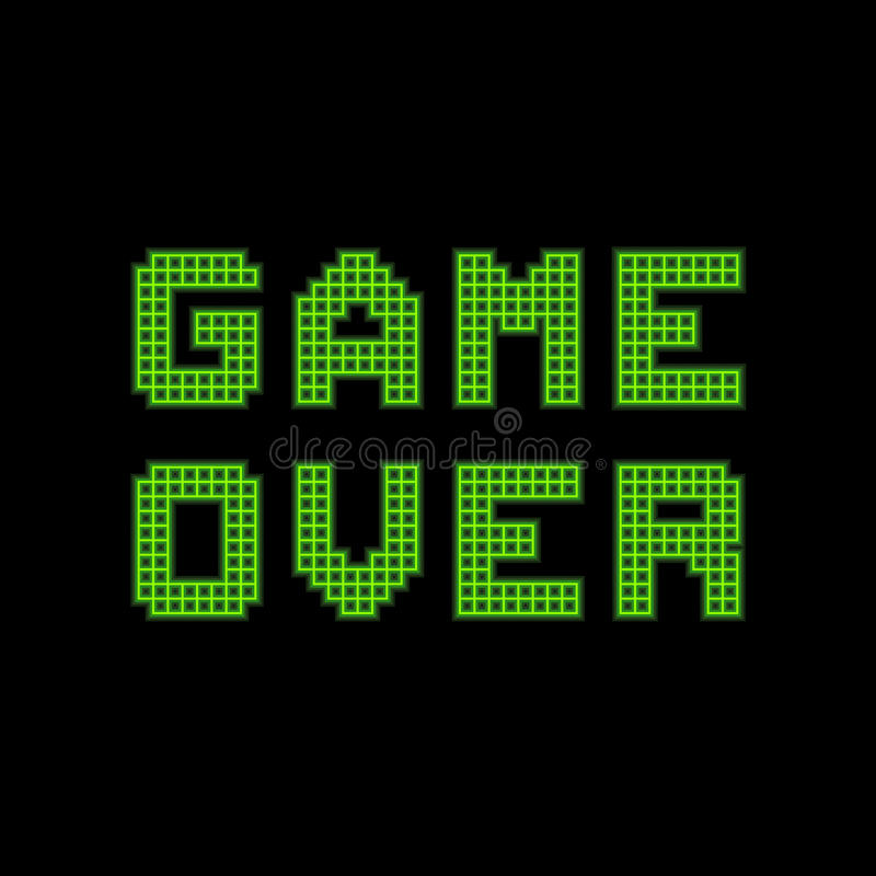 Download Pixel Game Over Message stock vector. Illustration of illustration - 27529055