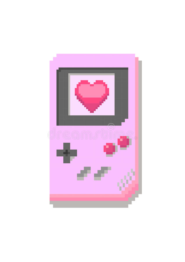 Pixel games console royalty free stock photos
