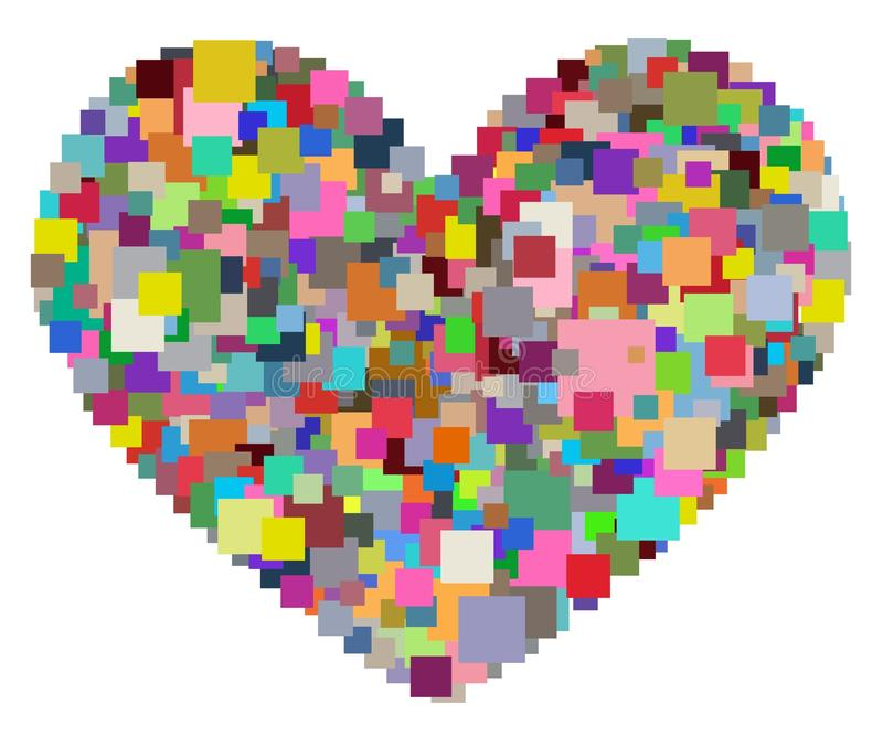 Pixel Heart royalty free stock image