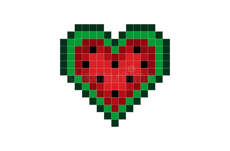 Pixel Heart Of Rainbow Color Stock Vector Illustration Of