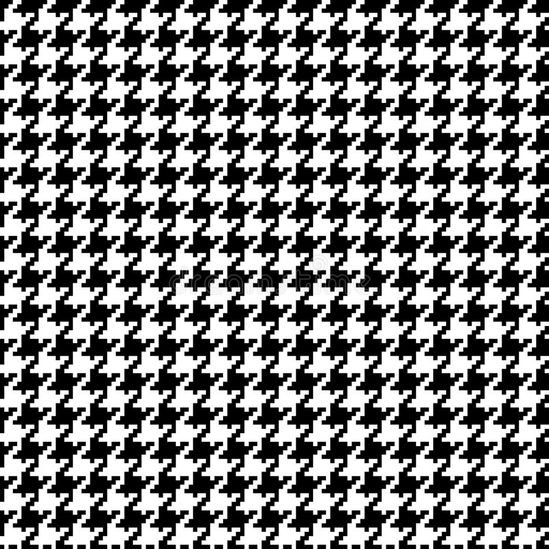 Pixel Houndstooth 1 illustration stock