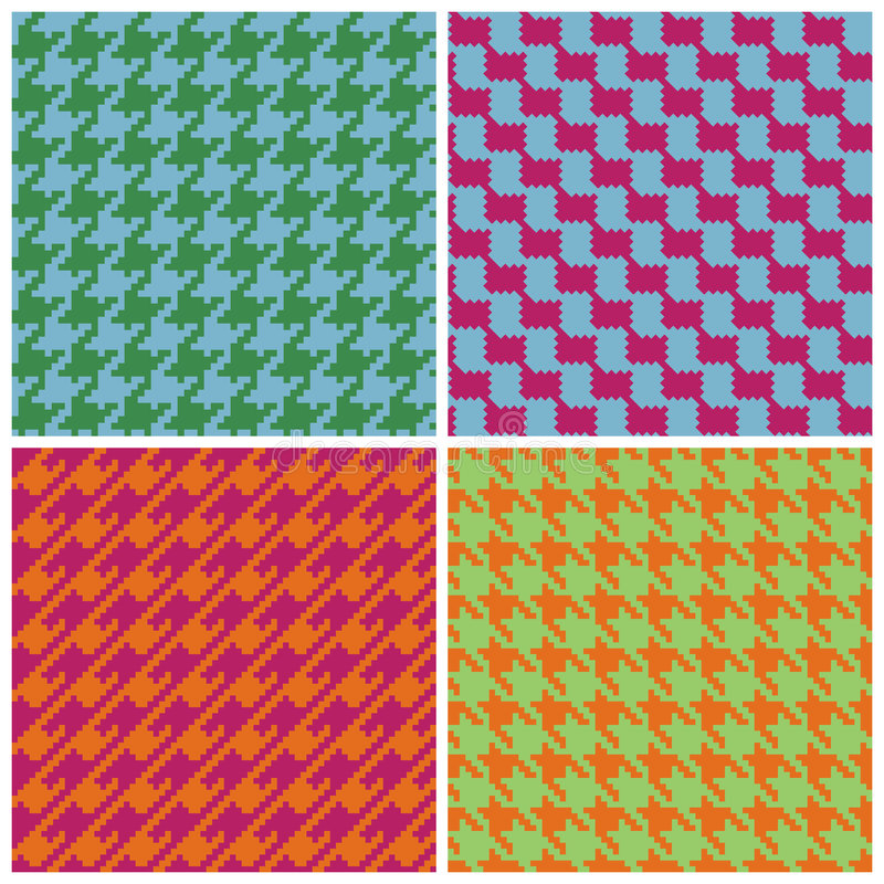 Pixel Houndstooth in Retro Brights royalty free illustration