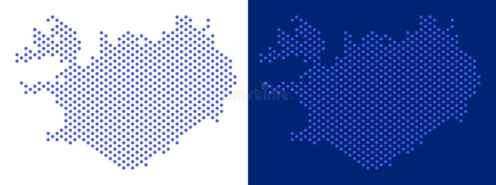 Dot Iceland Map stock vector. Illustration of pixel - 119192009