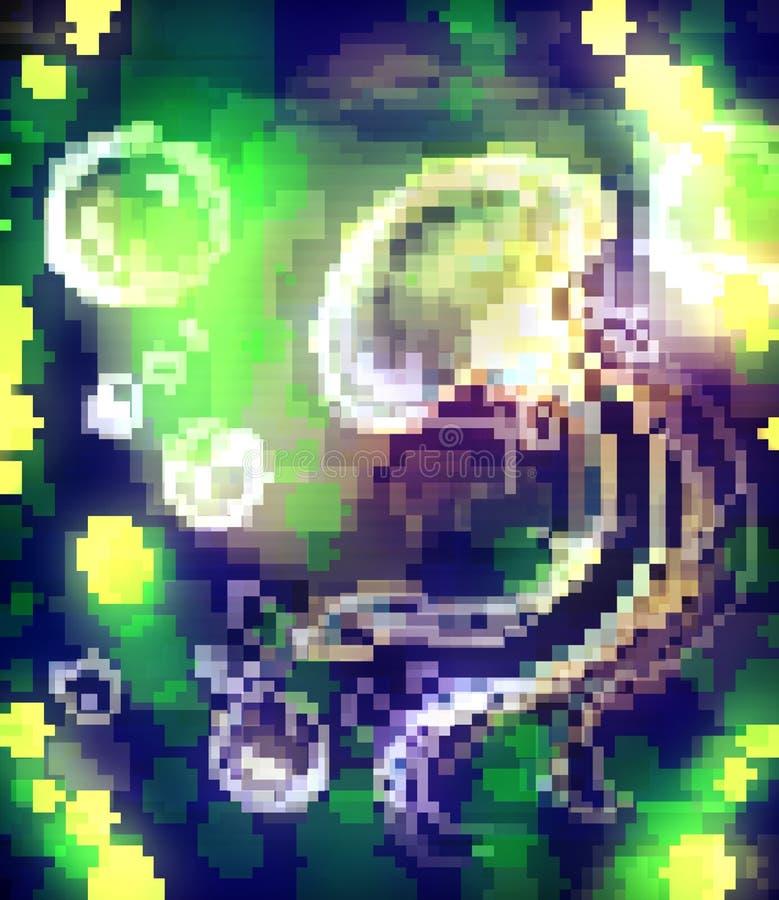 Pixel jellyfish stock photo