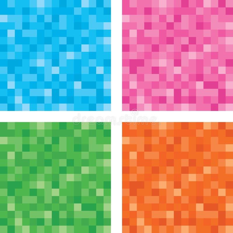 Pixel-Knopf-Satz lizenzfreie abbildung
