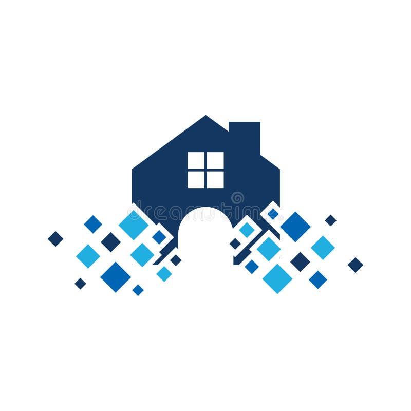 Pixel Logo Icon Design de la propiedad libre illustration