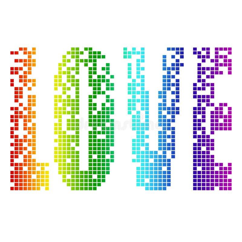 Pixel Love Stock Illustration Illustration Of Letter 7689059