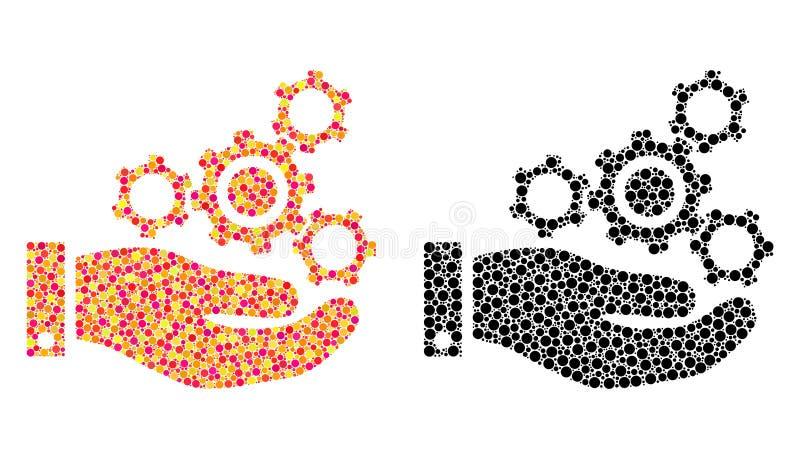 Pixel Mechanics Service Mosaic Icons royalty free illustration