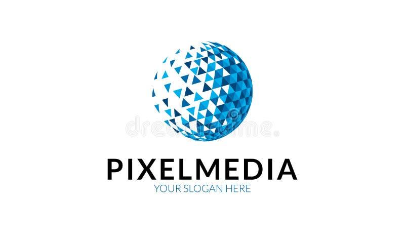 Pixel-Medien Logo Template lizenzfreie abbildung