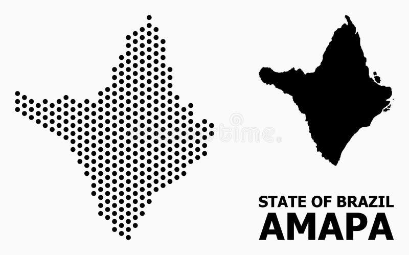 Pixel-Mosaik-Karte von Amapa-Zustand vektor abbildung