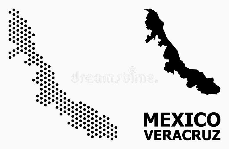 Pixel-Muster-Karte von Veracruz-Staat lizenzfreie abbildung