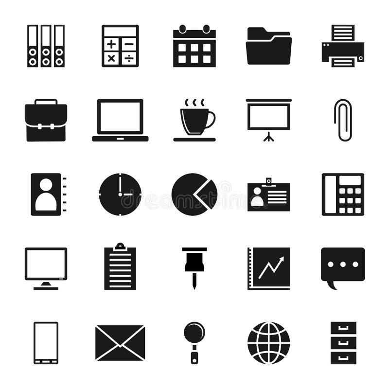 Pixel parfait des icônes de bureau sur le fond blanc illustration libre de droits