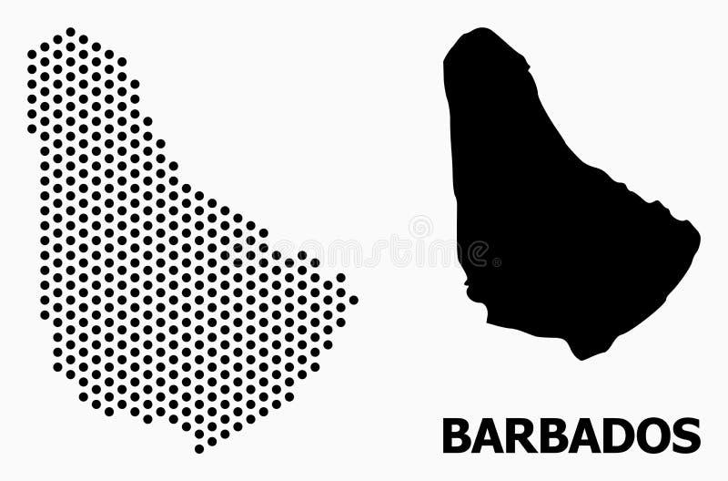 Pixel Pattern Map of Barbados royalty free illustration