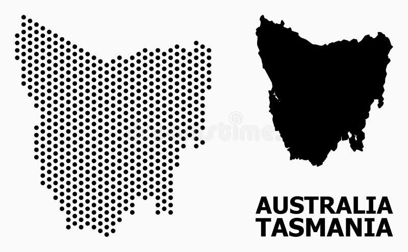 Pixel Pattern Map of Tasmania Island royalty free illustration
