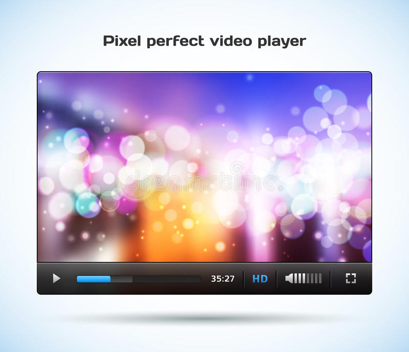 Pixel Perfect Video Player For Web. Royalty Free Stock Photography