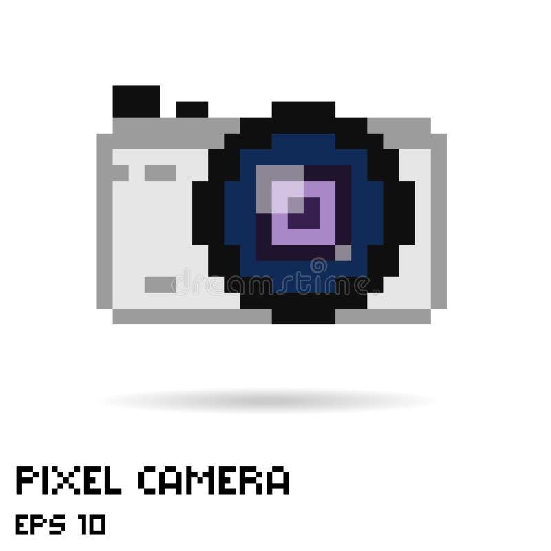 Pixel photo camera icon vector illustration