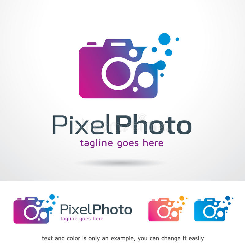 Pixel Photography Logo Template Design Vector vector illustration