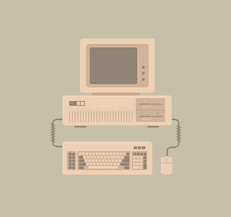 Pixel retro Art Illustration de la PC ilustración del vector