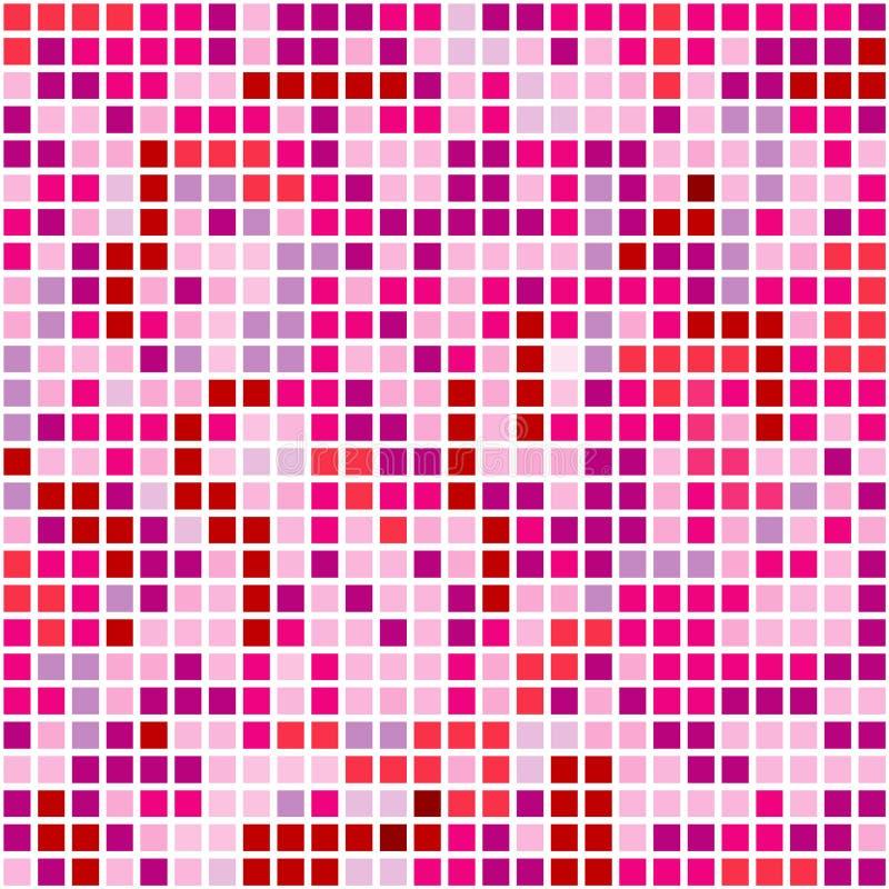 Pixel roses illustration stock