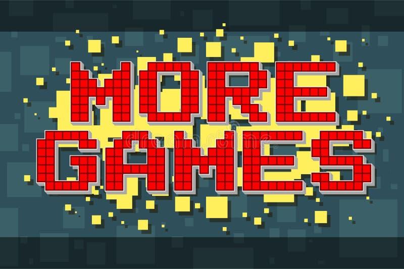Pixel rouge rétro plus de bouton de jeu pour des jeux vidéo illustration libre de droits