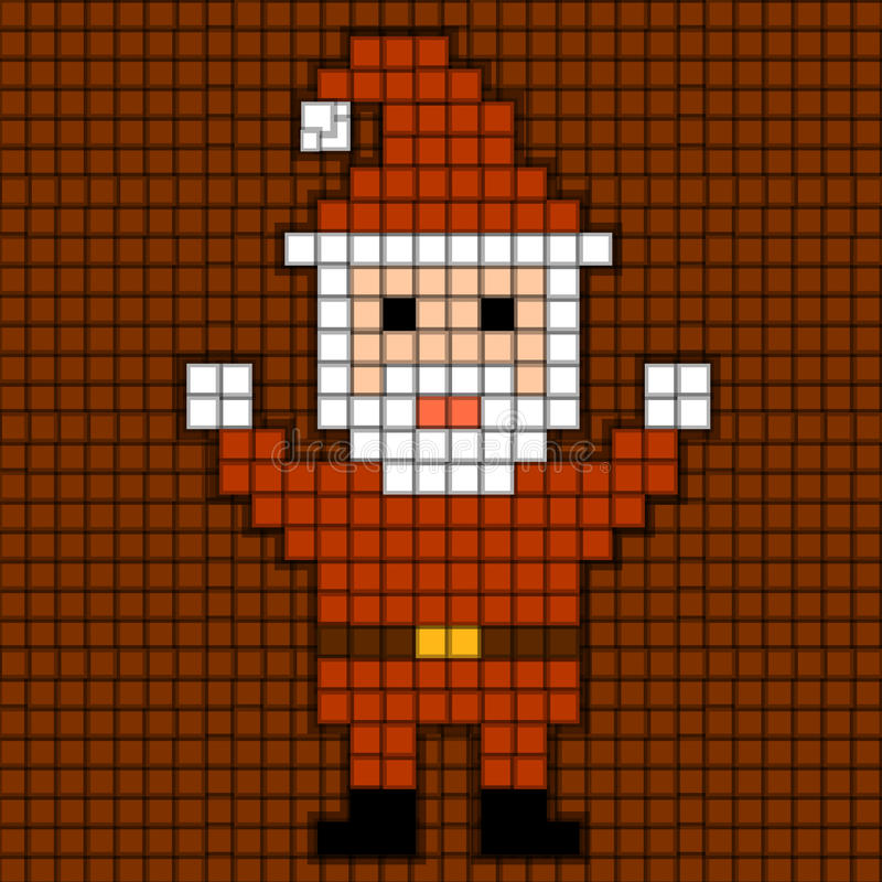 Pixel Santa. Christmas Theme. Stock Illustration - Image ...