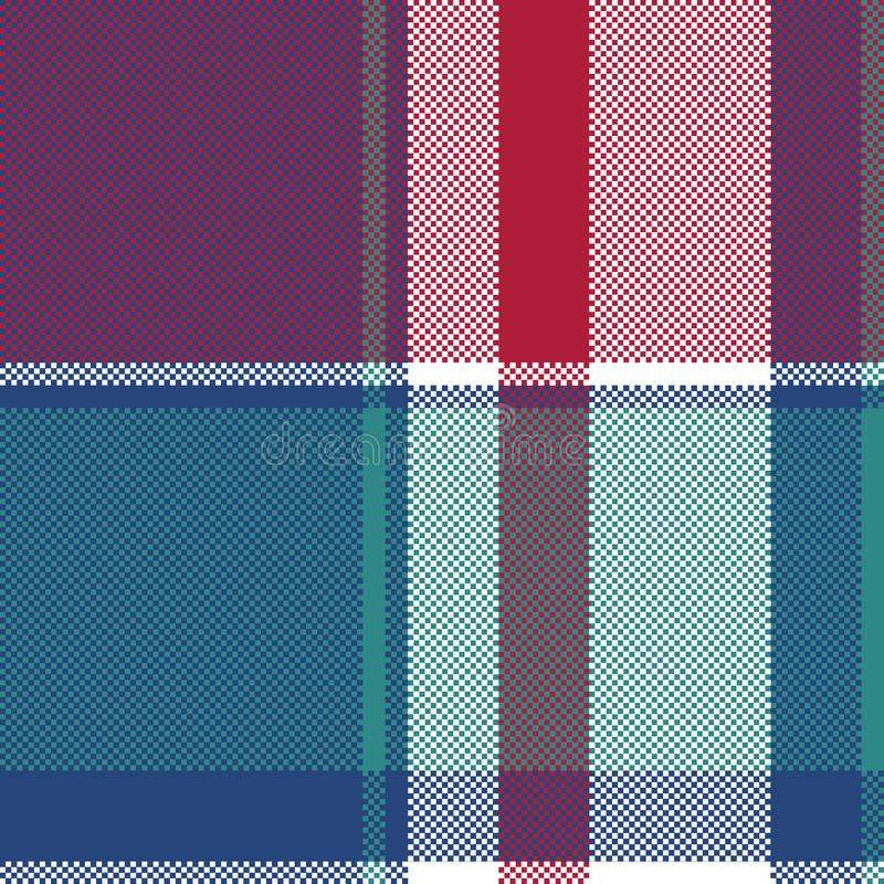 Pixel seamless pattern blue plaid royalty free illustration