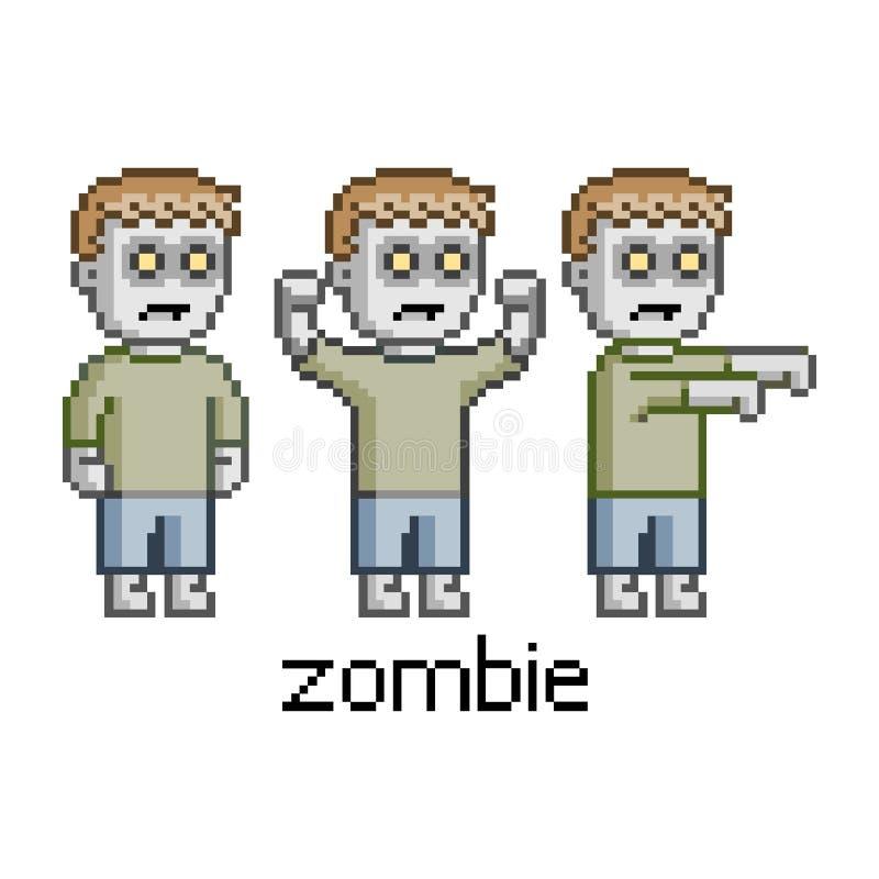Pixel Zombies Stock Illustration. Illustration Of Human