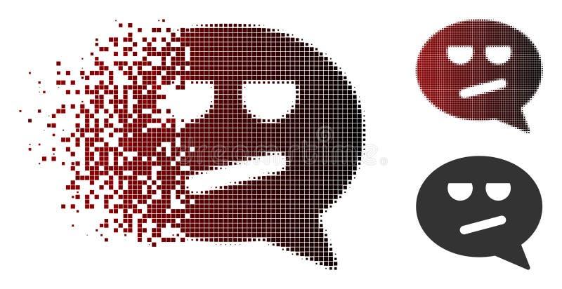 Pixel Smiley Message Icon ennuyé par image tramée d'étincelle illustration libre de droits