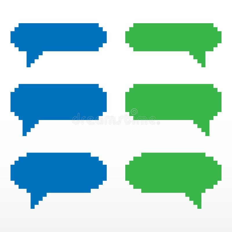 Pixel Speech Bubble Icon. Stock Vector. Illustration Of