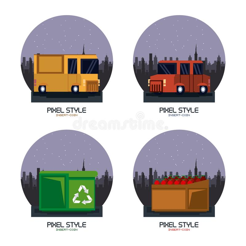 Spa Elements , Pixel Perfect Icons Stock Vector