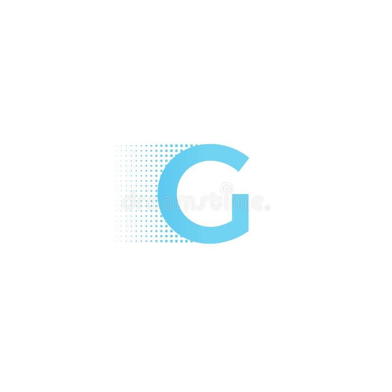 Pixel typography letter G logo. Technological modern font calligraphy. Logotype. Vector illustration stock illustration