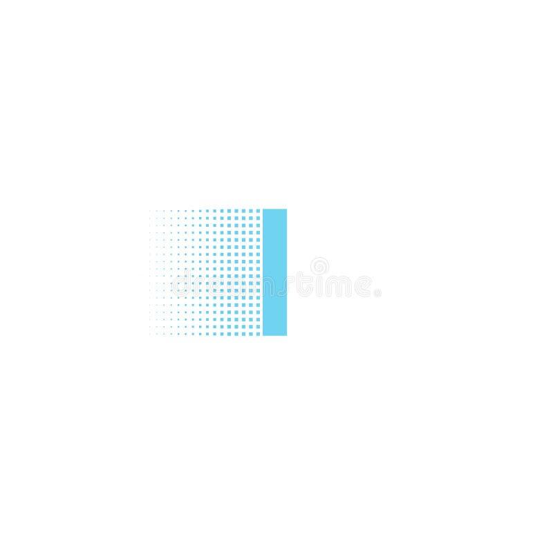 Pixel typography letter I logo. Technological modern font calligraphy. Logotype. Vector illustration stock illustration