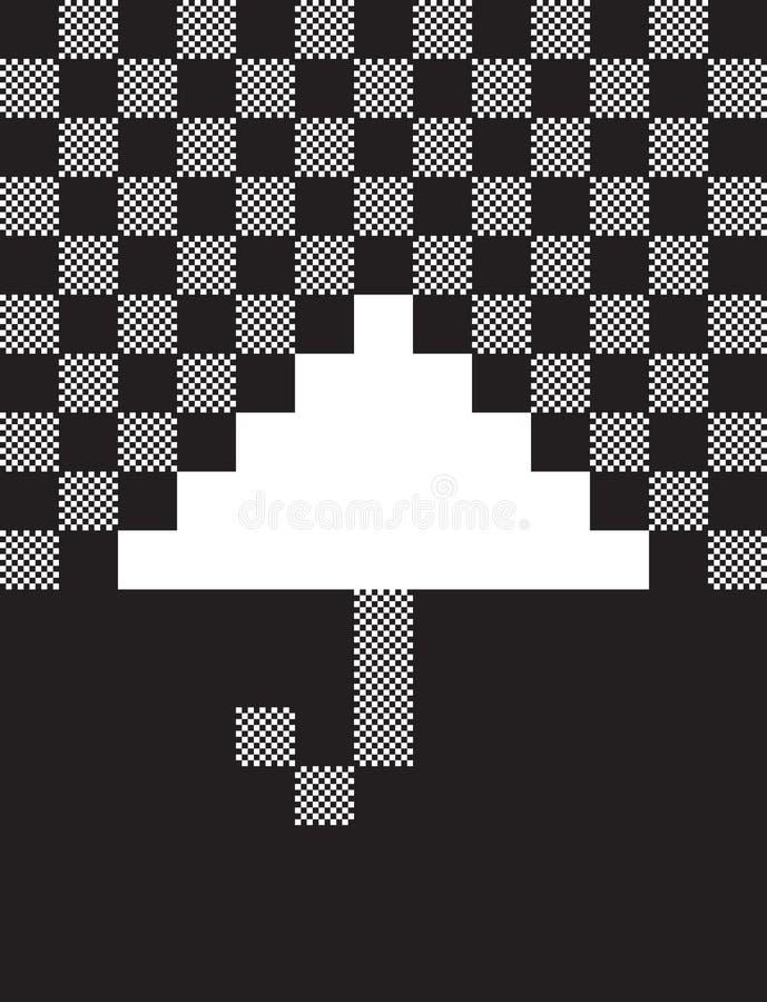 Pixel Umbrella Stock Photos