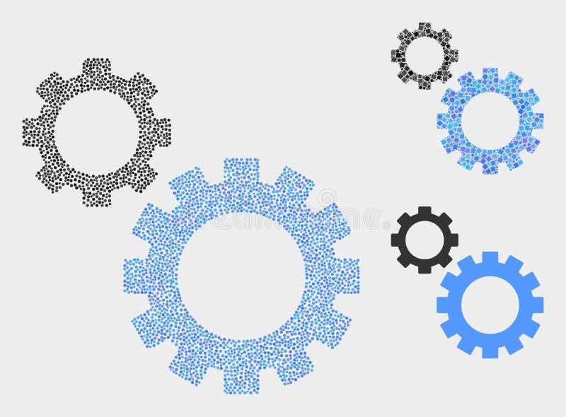 Pixel Vector Gears Icons vector illustration